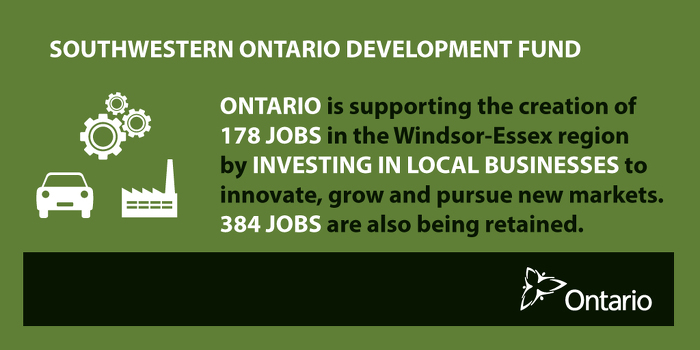 Ontario Supporting Economic Growth in the Windsor-Essex Region