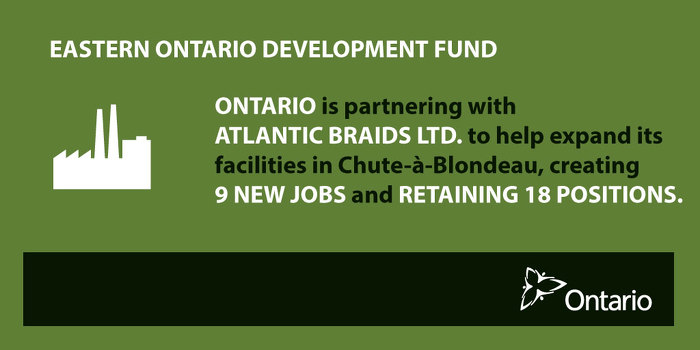 Ontario Supporting Manufacturing in Chute-à-Blondeau