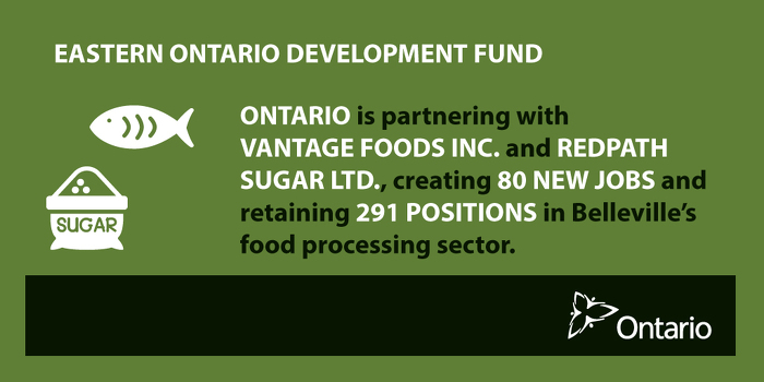 Ontario Supporting New Jobs and Business Investment in Belleville