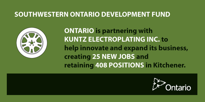 Ontario Driving Economic Growth and Creating Jobs in Kitchener