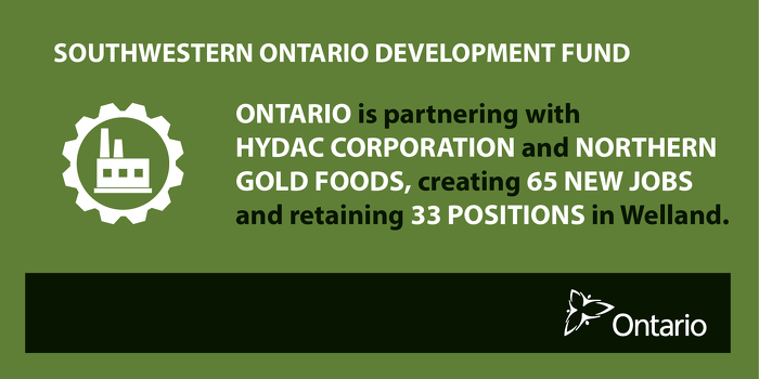 Ontario Supporting New Jobs and Business Investment in Welland