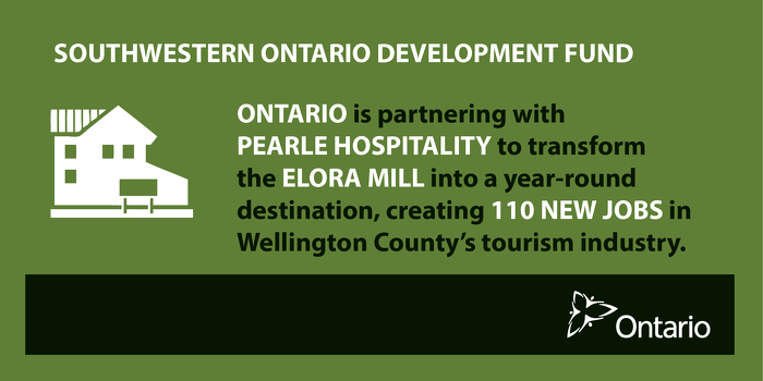 Ontario Boosting Economic Growth in Elora