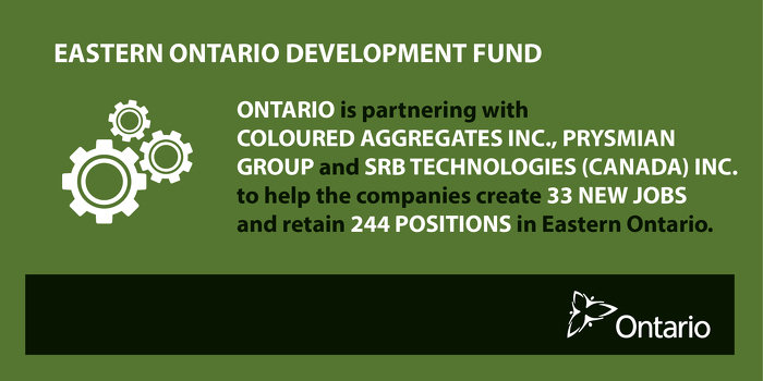 Supporting Economic Growth and Manufacturing in Eastern Ontario