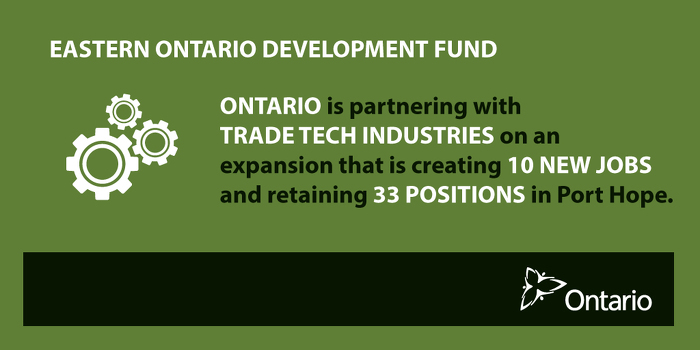 Ontario Boosting Economic Growth in Port Hope