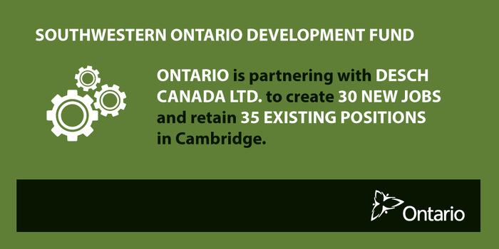 Ontario Strengthening Economic Growth in Cambridge