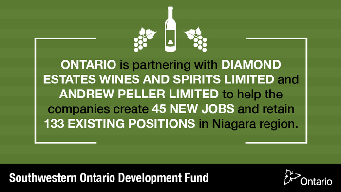 Ontario Partners with Wineries to Create Jobs in Niagara