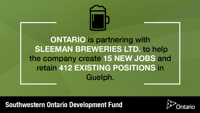 Ontario Supporting Over 425 Jobs in Guelph