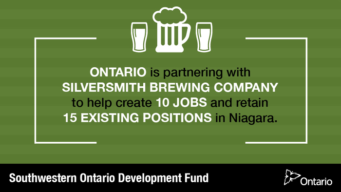 Ontario Supporting Craft Brewery and Job Creation in Niagara