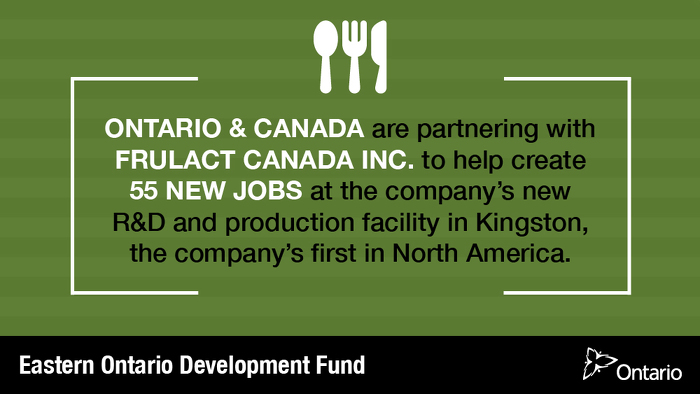 Canada and Ontario Invest in New Food Processing Facility