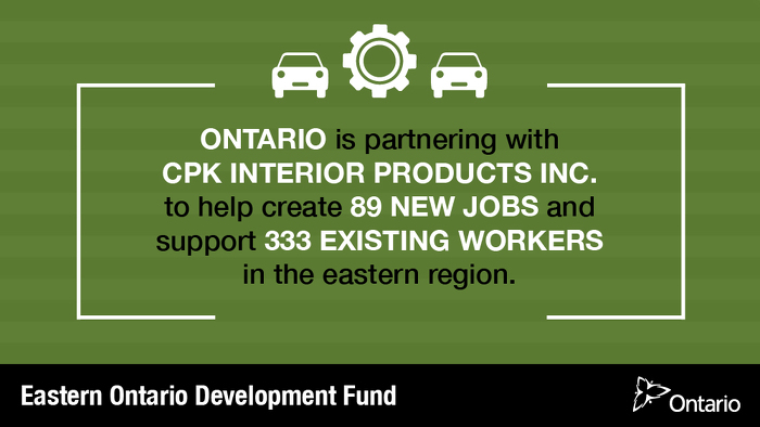 Investment Supporting Over 400 Jobs in Eastern Ontario