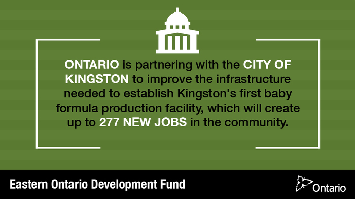 Building Infrastructure to Support Kingston's First Baby Formula Facility