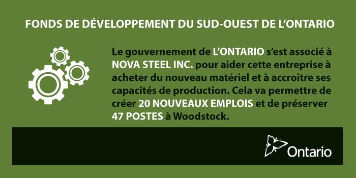 L'Ontario favorise la croissance économique et crée des emplois à Woodstock