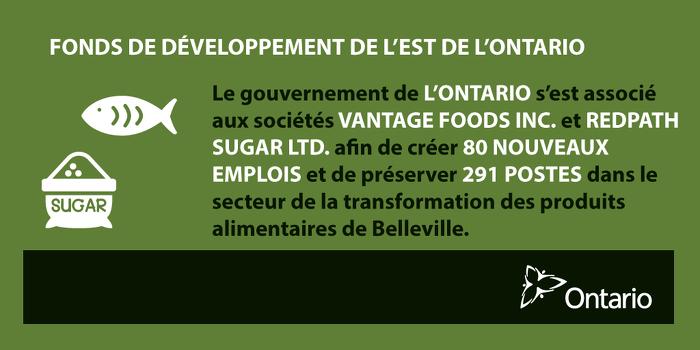 L'Ontario favorise de nouveaux emplois et des investissements par des entreprises, à Belleville
