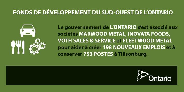 L'Ontario soutient la croissance économique à Tillsonburg