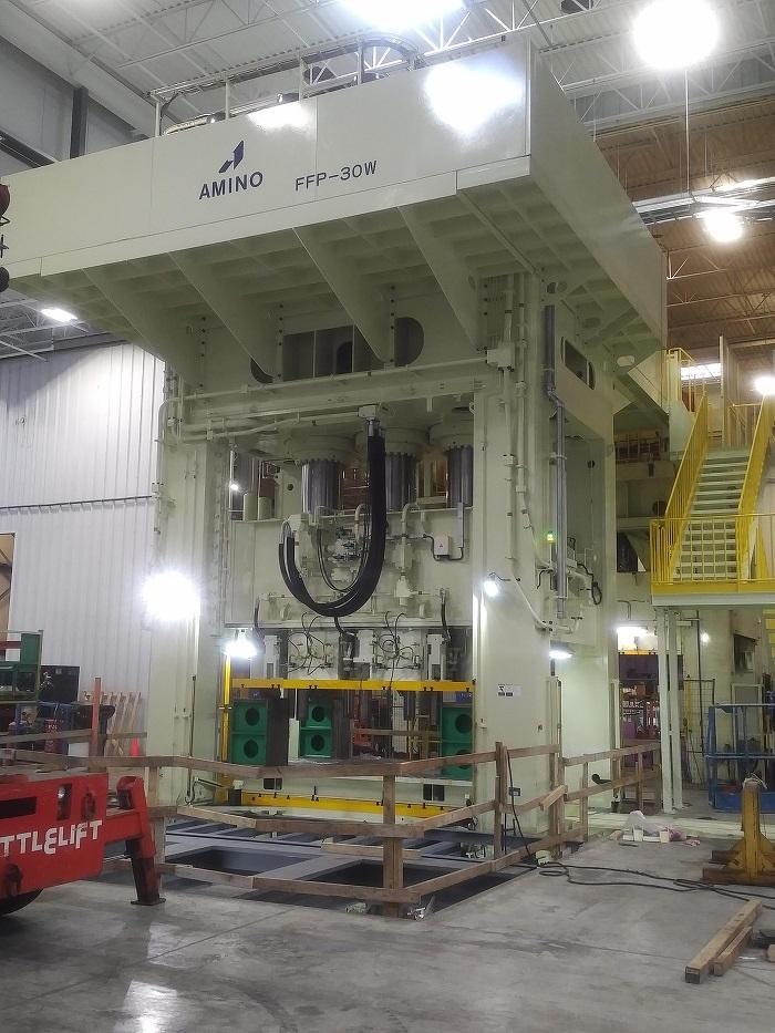 Installation de la nouvelle presse d'hydroformage de métal en feuille d'ANAC