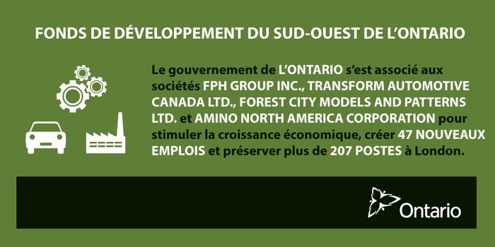 L'Ontario soutient les emplois et la croissance à London