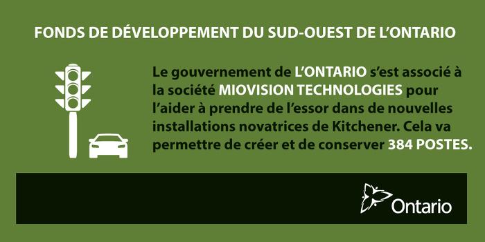 L'Ontario stimule l'économie de l'innovation et favorise la création de nouveaux emplois à Kitchener