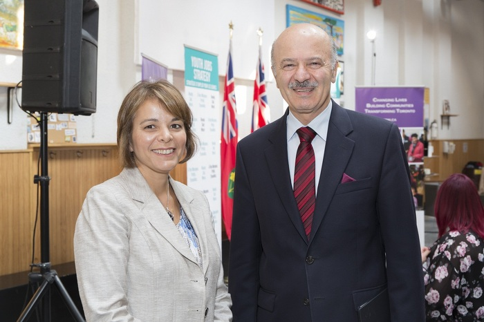 Minister Moridi and Angela Draskovic, President and CEO, Yonge Street Mission