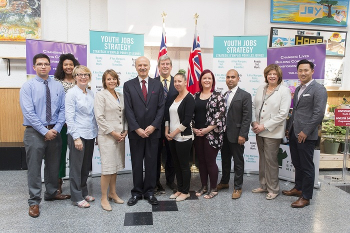 Minister Reza Moridi and Glen Murray, MPP – Toronto Centre with  Yonge Street Mission staff, supporters and clients
